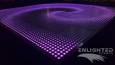 LED dansvloer paarse swirl
